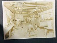 1900's Interior George Washington Barker Parker Woodshop Carpenter Photo WOW