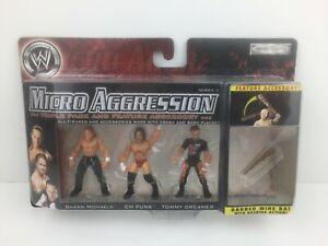 2007 MICRO AGGRESSION WWE Shawn Michaels CM Punk Tommy Dreamer Series 3 Figurine