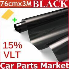 Window Tint Film Black 76cm X 3m Roll VLT 15% For Car Auto House Commercial OVP