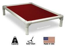 Kuranda Indoor/Outdoor Dog Bed - Almond Frame - 40oz Vinyl Fabric - Wine