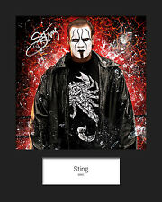 STING #4 (WWE) Signed 10x8 Mounted Photo Print - FREE DELIVERY