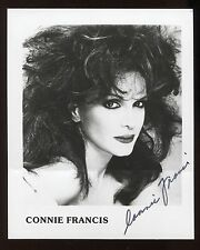 Connie Francis Signed Vintage Photo Autographed AUTO Signature