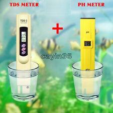 TDS Tester+Digital Ph Meter Aquarium Pool Hydroponic Water Monitor 0-9999 PPM UK