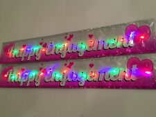 NEW LED Flashing Happy Engagement Banner Party hanging Decorations Balloons