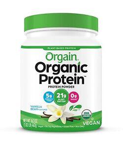Organic Plant Based Protein Powder Sweet Vanilla Bean 1.02lbs