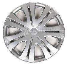 "Silver 16"" Hub Caps Full Wheel Rim Covers w/Steel Clips (Set of 4) - KT-1012S-16"