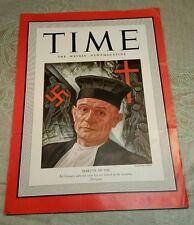 WWII 1941 Time Magazine Martin Niemoller Anti Nazi Hitler German Martyr Religion