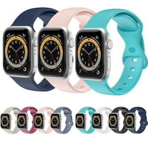 For iWatch 38/40/42/44mm Silicone Sport Wrist Band for Apple Watch Strap 654321
