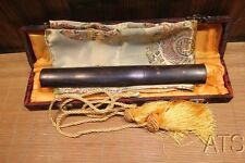 Japanese Double Pegged Rosewood Folded Steel Tanto Sword + Free Silk Bag & Box