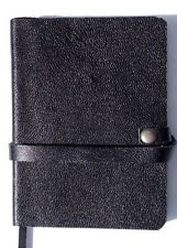 Notebook Journal Black Leather Mini Handmade Pocket Size Notebook ruled