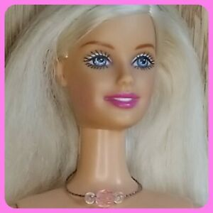 Cool Clips Barbie Nude 2000 Original Necklace Extra Long Blonde Hair TNT Body