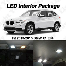 12 x Xenon White SMD LED Interior Lights Bulbs Package For 2013-2015 BMW X1 E84