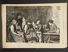 "Harper's Weekly Single Page B1#64 Jun 1878 ""Slander"" -By Eduard Kurzbauer"