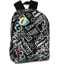 MTV TRASH Backpack Rucksack Boys Girls Trendy Retro School Bag Music Television