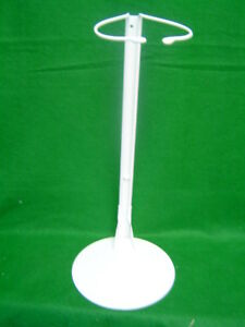 Doll Stand White coated Metal for Dolls and Teddy Bears 33 to 42 inches no. 5001