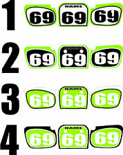 1986-2005 Kawasaki KX60 KX 60 Number Plates Side Panels Graphics Decal