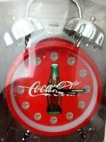 Vintage 1997 Coca Cola Twin Bell Alarm Clock Accurate Quartz Movement NIB NOS