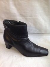 Sioux Black Ankle Leather Boots Size 5