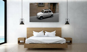 Wandbild Fiat 500 Poster Leinwand Acryl Dibond Forex