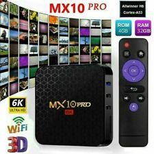 MX10 PRO Android 9.0 Quad-Core 4GB+32GB Storage 6K 2.4G/5G WIFI Smart TV Box AU
