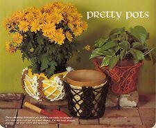 Decorative Pot Cover / Holder Pattern #HA56 Moods in Macrame 1970s Craft Book