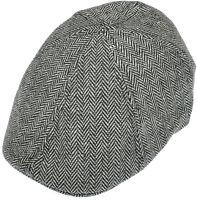 Aprileo Driving Cap Herringbone Newsboy Flat Hat Cabbie Gatsby Ivy