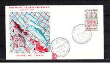 Amt/  Tunisie  enveloppe   1er jour  6è foire de Tunis    1958