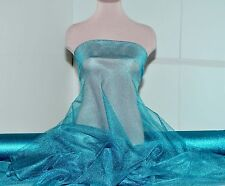 "METALLIC TULLE STETCH NETTING TURQUOISE  60"" ,COSTUME, DECOR, ,PAGEANT, FORMAL"