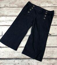 New York & Co Soho Jeans Womens 12 Culotte Dark Blue Denim Pants