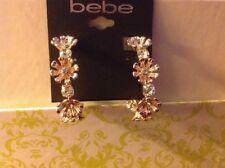 New Bebe in Rose Gold Hoop Earrings
