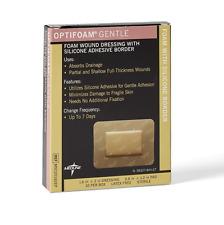 "Optifoam Gentle Border Foam Dressing 1.6"" x 2"" (Box of 10) Medline # MSC20162EP"