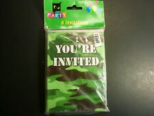 Party LOT:  Camo Invitations (24), Honeycomb and Banner