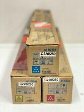 3X Konica Minolta Genuine TN216C TN216M TN216Y A11G491 A11G291 A11G391 C220 C280