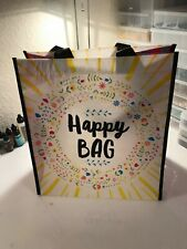 "Natural Life recycled plastic bag.14""x12.5   LARGE HAPPY BAG  Gift Tote Bag"