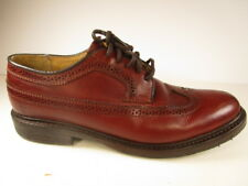 Frye Men's Wingtip Shoes Sz 9B Burnt Dark Red Leather