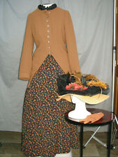 Victorian Dress Women's Edwardian Costume Civil War Reenactment with Hat