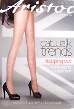 Aristoc Small to Medium Catwalk Trends Patterned Sparkle Tights in Nude/Gold