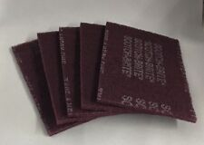 Scotch-Brite #7447 Maroon Pads Pack/5 FREE SHIPPING!