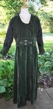 Antique Dress 1915 Green Velvet Evening Dress, Arts And Craft Embroidery Design
