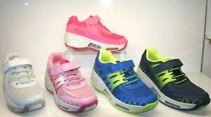 Boy Girls Kids Wheel Skate Roller LED Trainer Flashing Sneaker Light Shoes Size