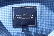 Façonnable M Gentleman's Sky Blue Gingham Check Long Sleeve Shirt