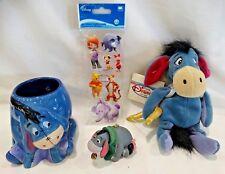 """Disney Store Eeyore Mug, Mini Bean Bag Cupid Eeyore 9"""" Plush, Eeyore Figure"""
