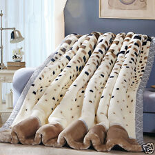 2-3kg blanket Raschel bed cover thicker blankets double layers queen king size
