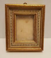 Antique Ornate Gold Wood Picture Frame Gesso Fine Art Country