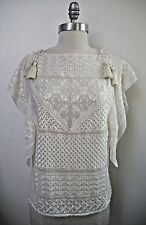 NEW ISABEL MARANT Allen ivory embroidered silk blouse top size 38 NWT