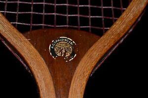 Antique 1905 Wood Spalding No Model Tennis Racket