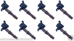 OEM NEW 2008-2020 Ford Ignition Coil 4.6L 5.4L 3V Brown Boot FULL SET 8 EIGHT
