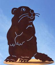 Murmeltier 30 x 28 cm Rost Edelrost Gartendekoration Biber Maus Tier Dekoration