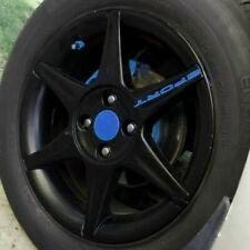 4x Aufkleber SPORT Auto Motorrad Felgenaufkleber Radkappe Sticker Räder Blau