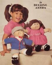 CABBAGE PATCH BOY & GIRL SET - 8ply or D.K. - COPY  doll knitting patterns